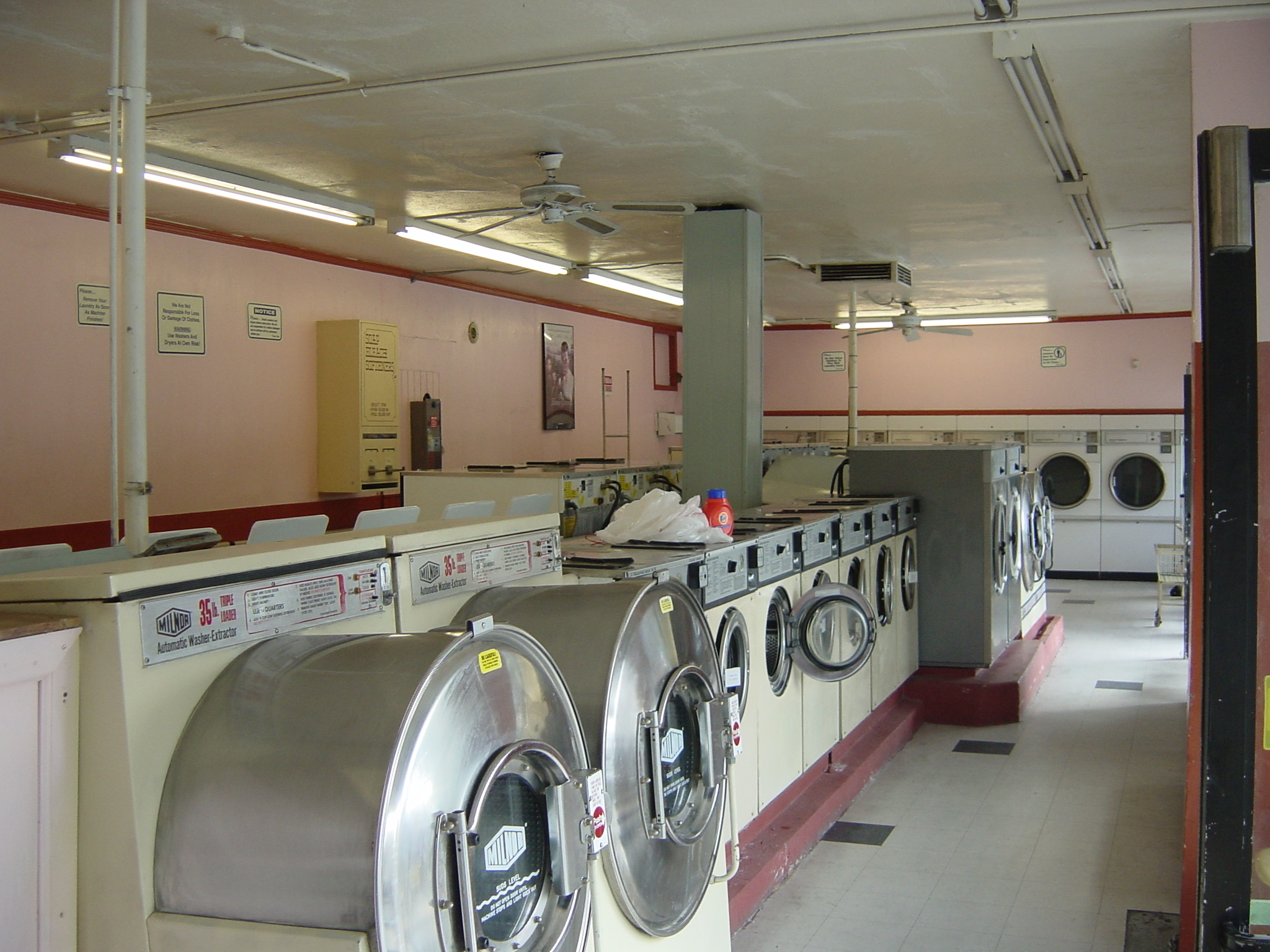 milnor, front load washer, inside coin laundry